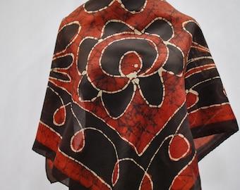 Vintage printed silk scarf ....(791)