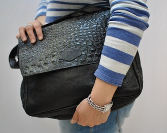 Vintage ENNEGI leather big size clutch ...(022)