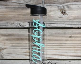 Personalized Water Bottle Sports Bottle 24 ounce Monogrammed Waterbottle