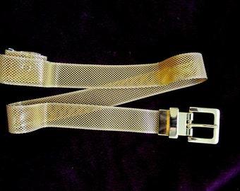 Vintage Gold Metal Mesh Belt Small NOS
