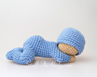 Sleeping Baby Amigurumi Pattern, Sleepy Doll Crochet Pattern, baby shower, nursery decor, newborn doll, birthday present, gifts for kids