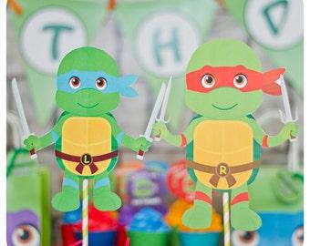 TMNT birthday party; Teenage Mutant Ninja Turtle Centerpieces; TMNT Party; Ninja Turtle Birthday Party
