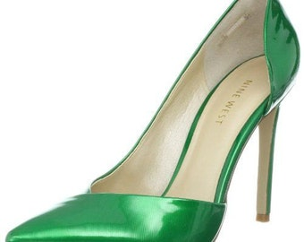 FREE SHIPPING / Green high heel shoes