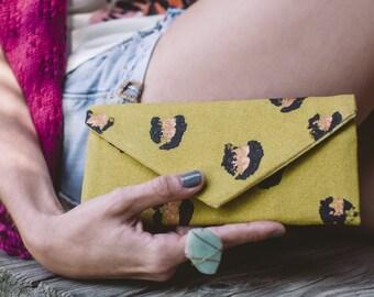 Envelope Wallet - Gift For Her - Womens Wallet - Cash Envelope Wallet - Hand Painted Wallet - Leopard Print - Women's Wallets - Gift Ideas