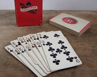 Vintage 1930s Hamilton Pinocle Playing Cards Art Nouveau Design 2 Decks