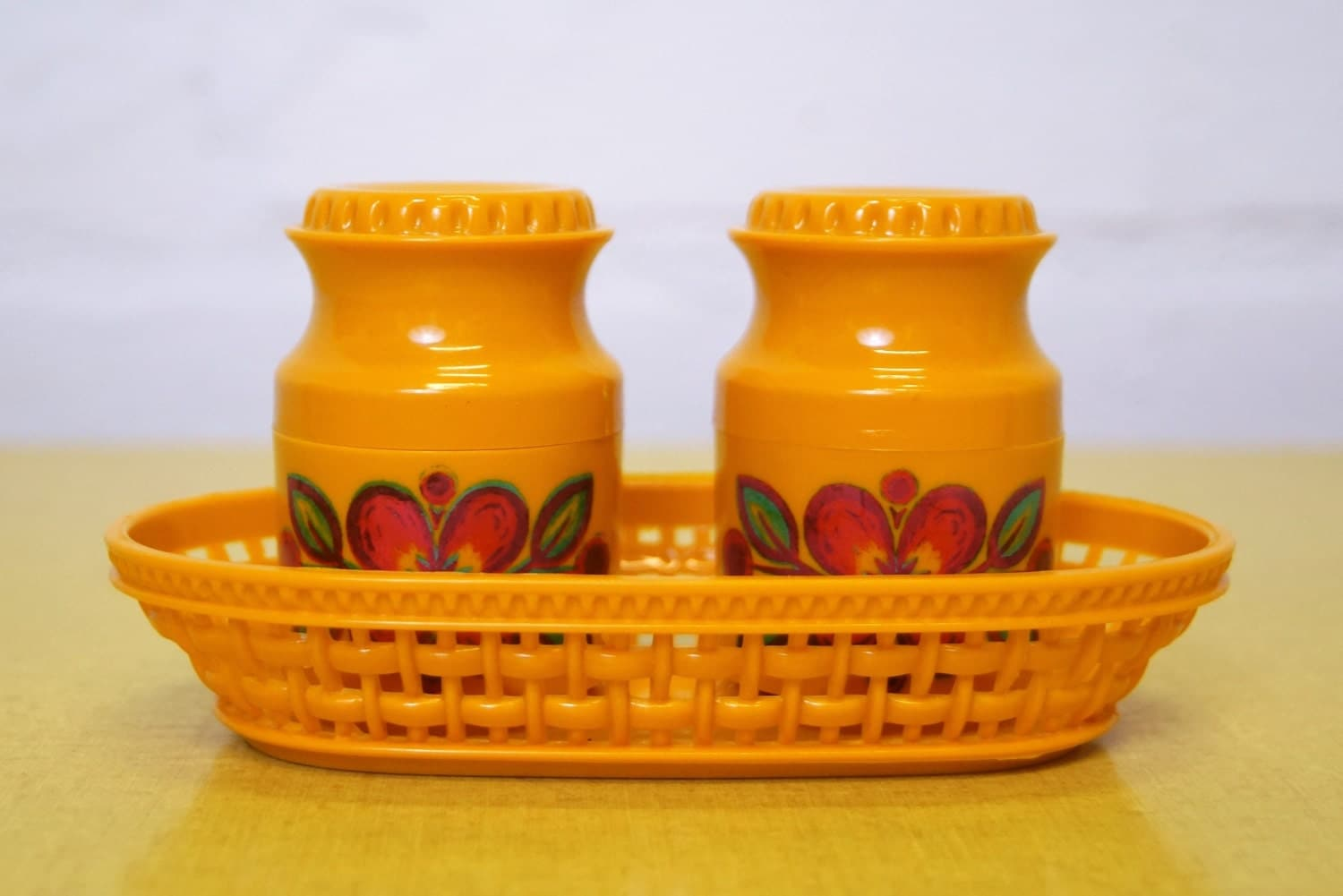 Vintage Salt And Pepper Pots With Stand