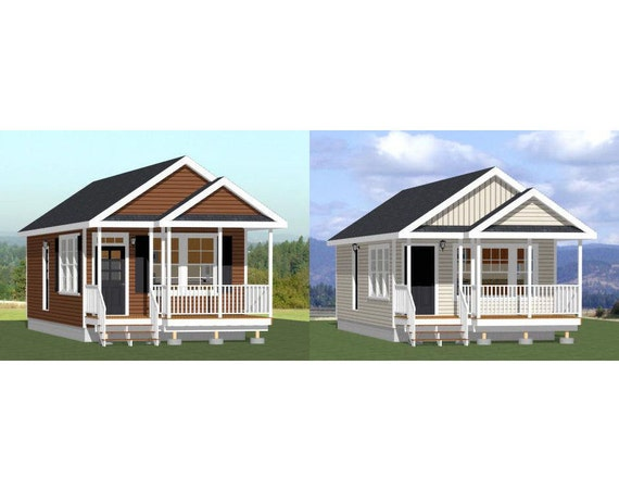 Items similar to 16x32 tiny houses 511 sq ft pdf for 16x32 house plans