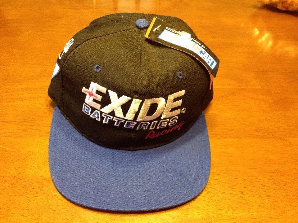 2de54f78fcd Nwt Vintage Bobby Bodine Exide Batteries 7 Nascar Racing Adjustable  Snapback Hat Cap