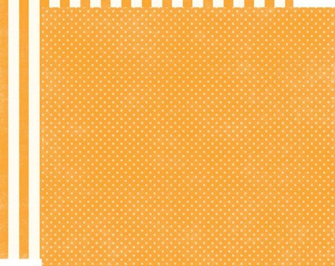 1 Sheet of Echo Park Paper DOTS & STRIPES Homefront 12x12 Scrapbook Paper - Marmalade Tiny Dots
