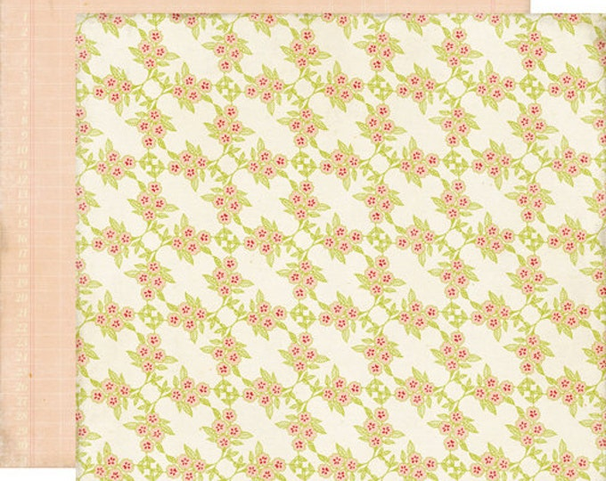 2 Sheets of Echo Park Paper THIS & THAT Graceful 12x12 Scrapbook Paper - Flower Vine