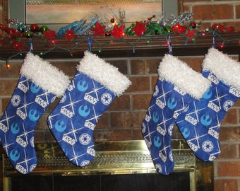 Star Wars Themed Christmas Stocking/ Glow In The Dark/ Family Christmas/ Christmas Traditions/ Holiday Stockings/ Geekery