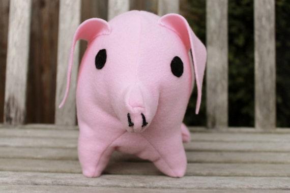 large pink pig stuffed animal pig plush pillow farm animal. Black Bedroom Furniture Sets. Home Design Ideas