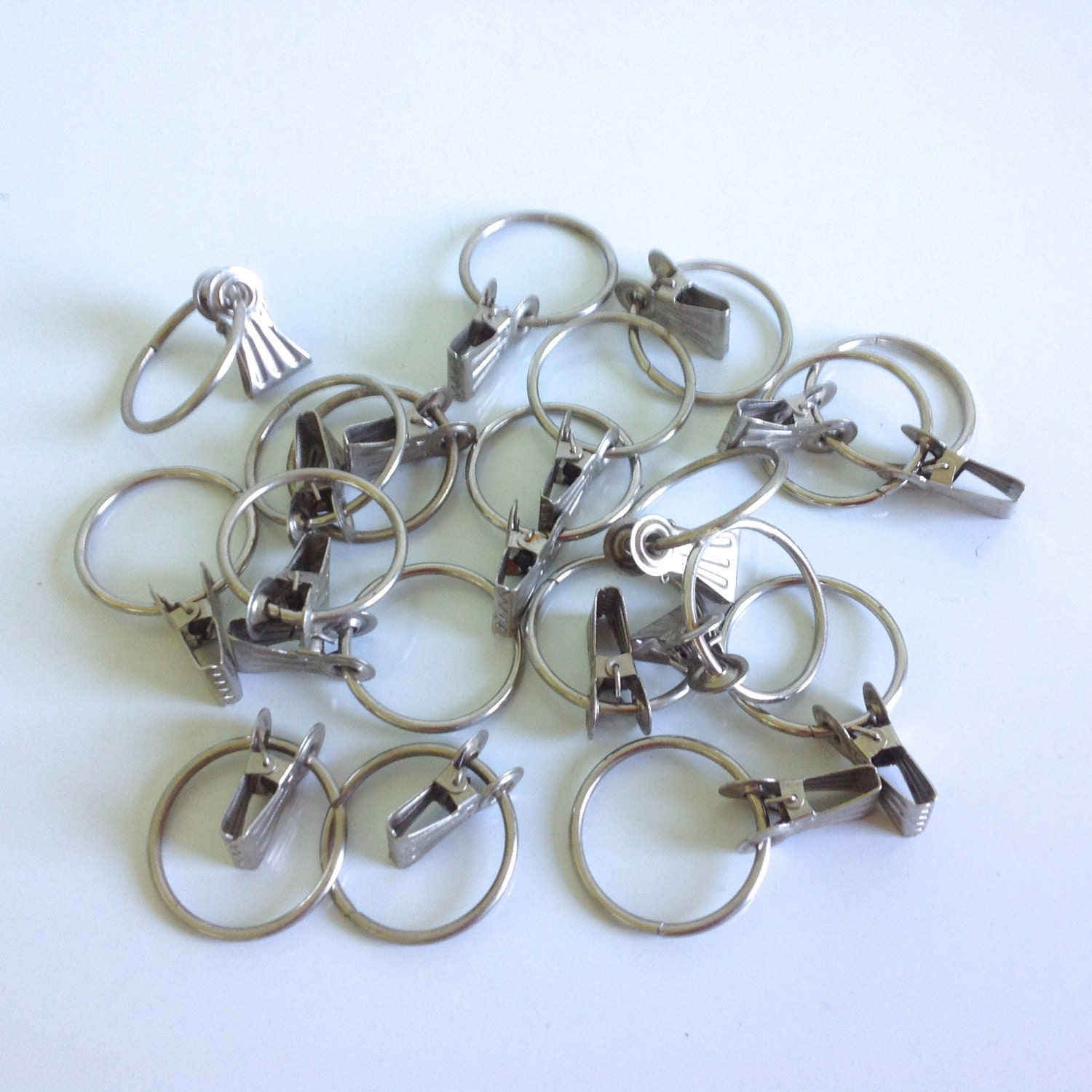 Vintage Curtain Clips Curtain Rings