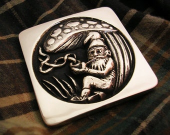 Smoking Gnome Belt Buckle
