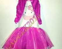 Hello Kitty TUTU Dress w/Sequin Vest & Sequin Hair Bow