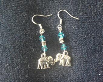 Elephant beaded earrings