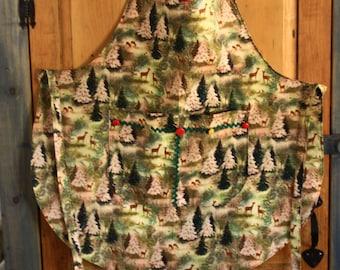 Apron - Deer and Woodland Christmas