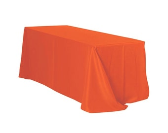 YCC Linen   90 X 156 Inch Rectangular Polyester Tablecloth Orange | Wedding  Tablecloths