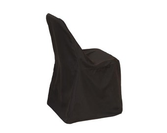 Polyester Folding Chair Cover Black   Wedding Chair Covers