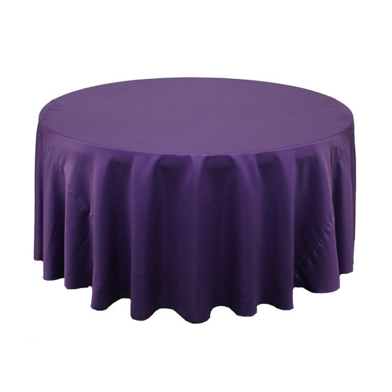 120 inch round lamour tablecloth purple by yourchaircovers for 120 inch round table cloths