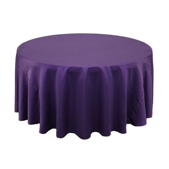 120 inch round lamour tablecloth purple by yourchaircovers for 120 round table cloths