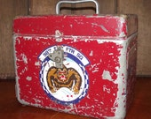 Air Force 33rd CRS Metal Tool Box Vintage Collectible