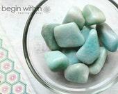 SALE Amazonite Tumbled Loose Gemstone Crystal / For Energy Healing, Reiki, Crystal Healing, Wicca