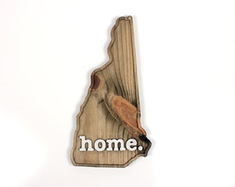 New Hampshire home. Rough Cut Mill Wood Wall Hanging