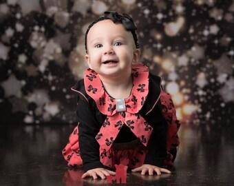 8ft x 8ft Black Bokeh Photography Backdrop - Stars and Glittering Lights Photography Backdrop - Sparkle Backdrop - Item 1631
