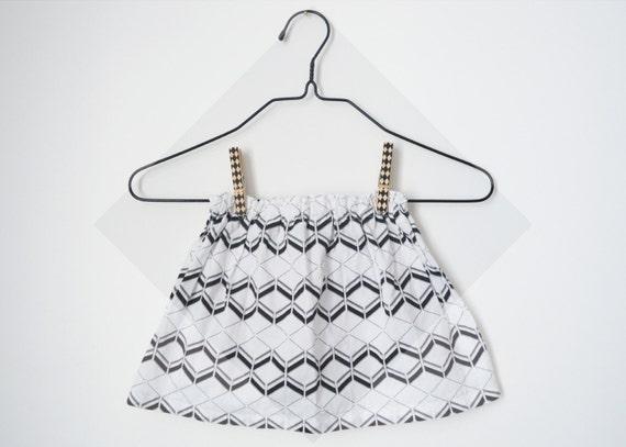 GEORGETTE - noir & blanc géométrique