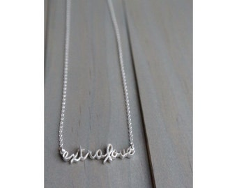 Extralove Sterling silver Down syndrome necklace