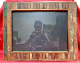 "Antique/ Old/ Reclaimed Wood Picture Frame for 12""x16"" Photo/ Painting / Mirror 02"