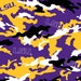 Louisiana State University LSU Tigers Collegiate Cotton Fabric 1 Yard Sports Team 100% Cotton