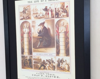 "Framed and Mounted The Life of a Sailor Vintage Songsheet Print - 20"" x 16"""