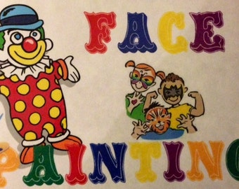 Face Painting Sign