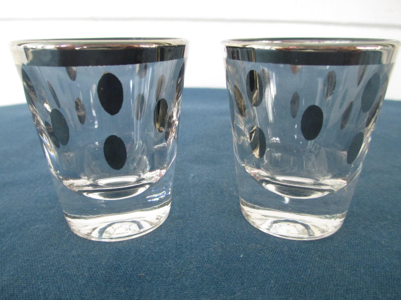 vintage dorothy thorpe silver shot glasses set of 2 barware