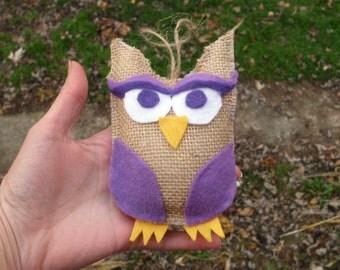 Owl Ornament, Burlap Ornament, Burlap Christmas Decorations, Burlap Ornaments, Owl Ornaments, Primitive Ornaments, Owl Christmas Ornament