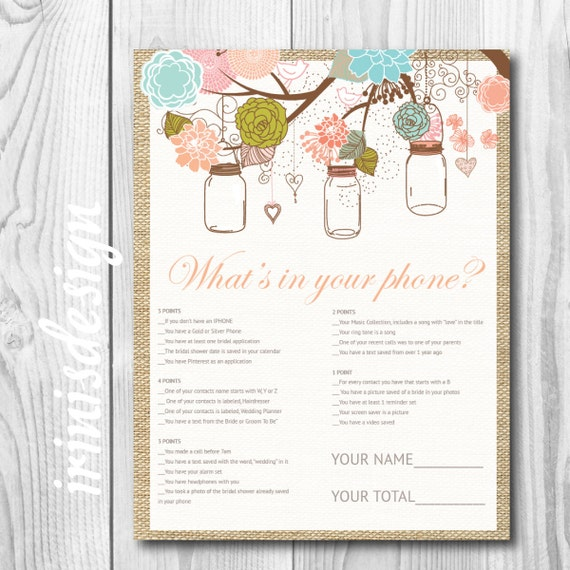 ... Game | mason jars hanging flowers | Print at Home, printable | 110
