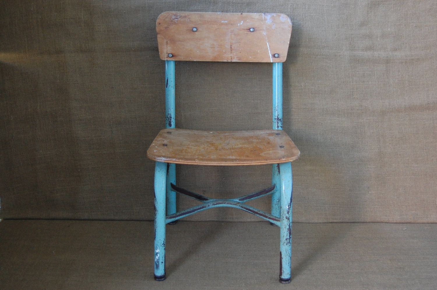 Vintage Childs School Chair Vintage Desk Chair Vintage Metal