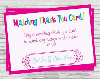 Matching Thank You Card To Any Design In The Store