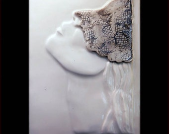 Vogue Girl - Ceramic Wall Art