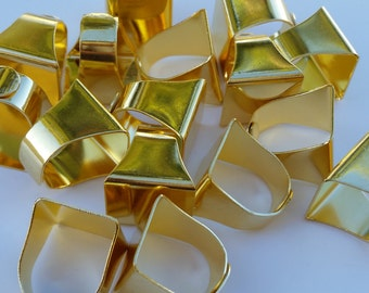 Gold Brass Rings - Brass Blank Ring Pads - Jewelry Supplies - Adjustable Ring Pads - DIY Rings - Gold Rings
