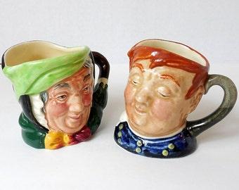 Royal Doulton Minis (2)  Miniature Toby Jugs Fat Boy and Sairey Gamp