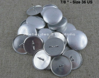 """10 Cover Buttons 7/8"""" (Size 36)"""