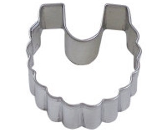 Mini Baby Bib Cookie Cutter 2''