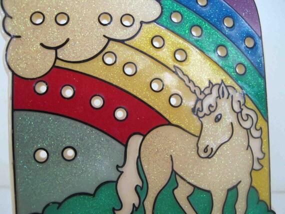 Vintage Earring Holder Unicorn Jewelry Box Unicorn Rainbow