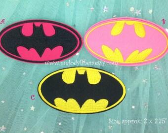 Batman embroidered iron on appliques iron on patch batgirl iron on patch batgirl embroidered patch