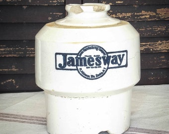Jamesway Chick Waterer~Crock~Pottery~Primitive Farm