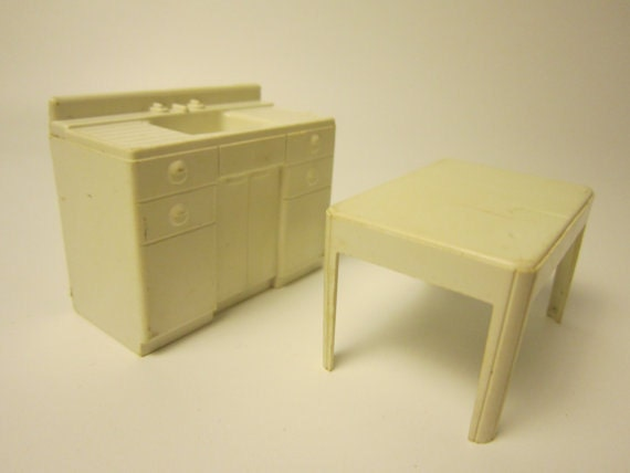 Vintage Marx Dollhouse Furniture Plastic Doll By Foxlanevintage