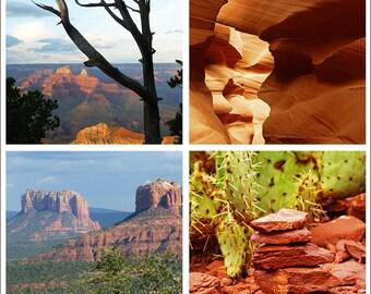 Amazing Arizona - Collage, Arizona Photography, Arizona Art, Arizona Print, Arizona Decor, Grand Canyon, Antelope Slot Canyon, Sedona AZ